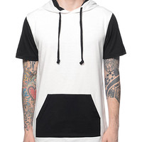 Zine Heading Home White & Black Hooded Shirt