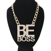 Be Boss Gold Necklace