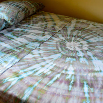 Hand Dyed Serenity Sheet Set - King Size - Tie Dyed Psychedelic Bedding