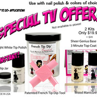 2 French Tip Dip Essentials Kits.Special TV Offer!