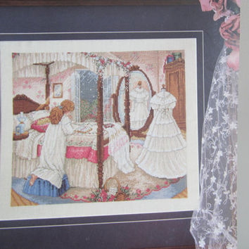 A Bride's Prayer Counted Cross Stitch Full Color Pattern Wedding Cross Stitch Romantic Theme