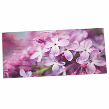 "Sylvia Cook ""French Lilacs"" Purple Photography Desk Mat"