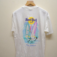 25% SALES ALERT Vintage 90's Hard Rock Cafe San Diego Street Wear Hip Hop Tee T Shirt Punk Rock Size L