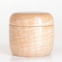 Handcrafted Trinket Box Turned in Figured Maple with Magnetic Lid