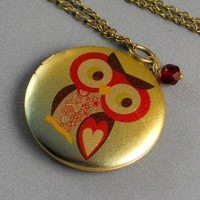 FREE SHIPPING ADORABLE OWL NECKLACE by ManoCelebrates on Etsy