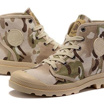 Palladium Pampa Hi Originale Tx High Boots Camouflage Beige Green - Beauty Ticks