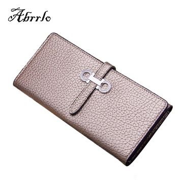 2017 New Spring Leather Wallet Women Luxury Brand Long Womens Wallets And Purses Multi Card Credit Holder Belt Hand Bag WAITMOON