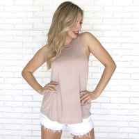 Nikki Basic Tank in Mauve