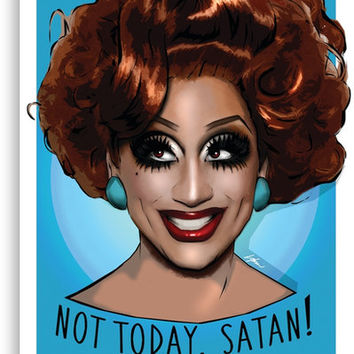 'Bianca Del Rio - Not Today Satan ' Canvas Print by LiamShawberry