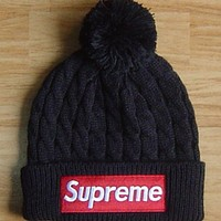 Supreme Fashion Embroidery Beanies Winter Knit Hat Cap