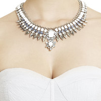 White BCBG Natural-Stone Spike Necklace