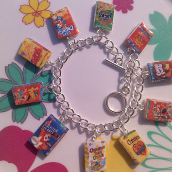 Cereal Box Variety Charm Bracelet Froot Loops by noalirosedeco