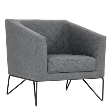 PRINCE DARK GREY ARMCHAIR