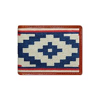 Gaucho Rojo Needlepoint Wallet by Smathers & Branson