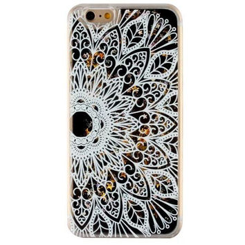 Quicksand Twinkle Lace Flower Case Cover for iPhone 5s 5se 6 6s Plus Free Gift Box 47