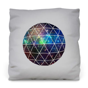 Space Geodesic Outdoor Throw Pillow