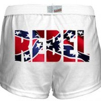 Girls Shorts With Rebel Flag