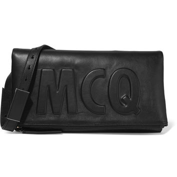 Fold-over embossed leather clutch | McQ Alexander McQueen | US | THE OUTNET