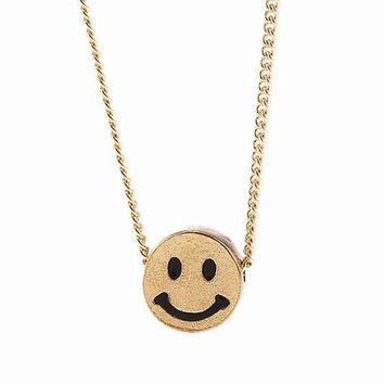 N226 Smile Face Clavicle Necklaces Women Pendant Bijoux Tiny Necklaces Dainty Fashion Jewelry Minimalist Summer Collares