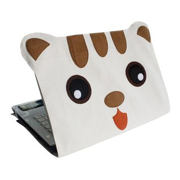 [Muzzy Cat] Customized Notebook Shell Durable Canvas Laptop Case