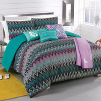 Roxy Tribal Dash Twin/Extra Long Twin Complete Comforter set