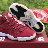 Air Jordan 11 Retro CNY Red Sneaker Shoe 40.5-45