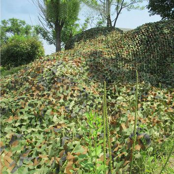 3x2M Hunting Military Camouflage Net Woodlands Leaves jungle Camo Cover Car Drop netting Field game CS combat bird observation