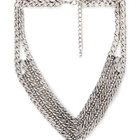 FOREVER 21 Mixed Chain Chevron Necklace Burn.S One