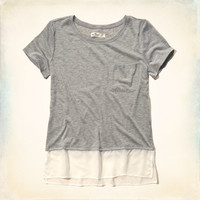 Sheer Layer Pocket T-Shirt