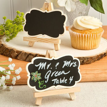 Chalk Board Easel Design Place Card Holders or Table Number Holders (Set of 6)