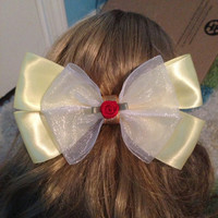 Belle Inspired Disney bow by JordansBowtique on Etsy