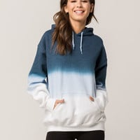 WHITE FAWN Blue Ombre Pullover Womens Hoodie