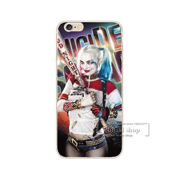 Harley Quinn Bat Suicide Squad Phone Case For iPhone 7 7Plus 6 6s Plus 5 5s SE