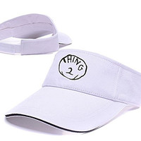 YUGY Thing 2 Adjustable Visor Cap Embroidery Sun Hat Sports Visors