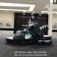 OFF-White x Nike 2018 AIR MAX Black Sandals Sports Shoes Sneaker