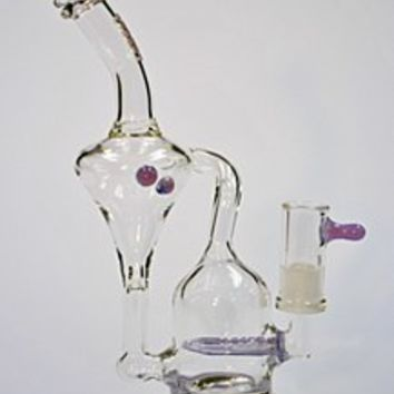 "10"" Tall M&M Tech Slyme Purple Recycler Oil Rig Bubbler"