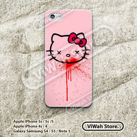 Bloody Hello Kitty iPhone 5 Case, Cute Girly Cartoon iPhone 5/5s/5c Hard Case Rubber Case,cover skin case for iphone 5 5s 5c case
