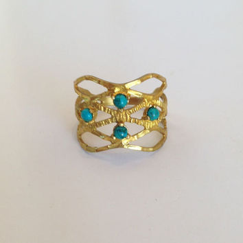 20% off- SALE!! Turquoise Ring - Turquoise Jewelry - Romantic Gift - Everyday Ring - Silver Turquoise Ring - Gold Turquoise Ring