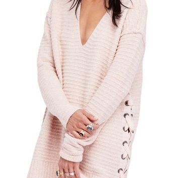 Free People Heart It Laces Sweater | Nordstrom