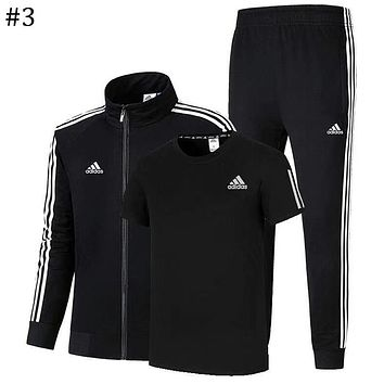 ADIDAS 2018 autumn and winter new men and women sports and leisure sportswear three-piece #3