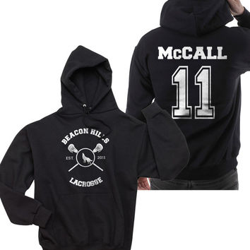 McCALL 11 Beacon Hills Lacrosse Teen Wolf BLACK Unisex Hoodie S to 3XL Scot McCall