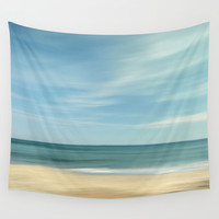 """Vintage summer"". Summer beach. Wall Tapestry by Guido Montañés"