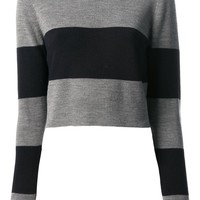 A.L.C. striped cropped sweater