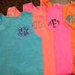Comfort Color Monogram Tank Tops Great for Bridesmaids, Teens, Graduation, Greek, Birthday Gifts