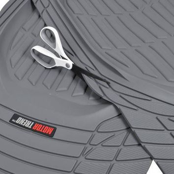 Motor Trend DeepDish Car Floor Mats 3 Piece with Cargo Trunk Mat, Large, 100 Percent Odorless Clean Rubber, 3 Colors