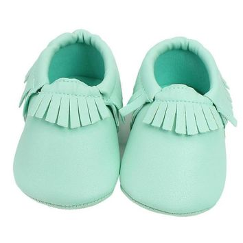 Tickled Tot Moccasins - Mint