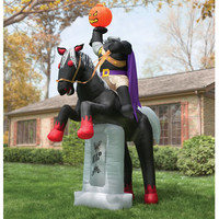 The 12' Inflatable Headless Horseman - Hammacher Schlemmer