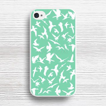 Bird Pattern mint green case iPhone 4s 5s 5c 6s 6 Plus Cases, Samsung Case, iPod 4 5 6 case, HTC case, Sony Xperia case, LG case, Nexus case, iPad case