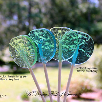 12 SAND DOLLAR Lollipops Nautical Party Favors Barley Sugar Hard Candy Lollipops Beach Birthday Party Gifts Beach Wedding Centerpieces