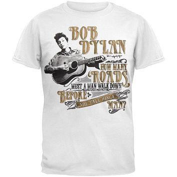 Bob Dylan - How Many Roads Soft T-Shirt